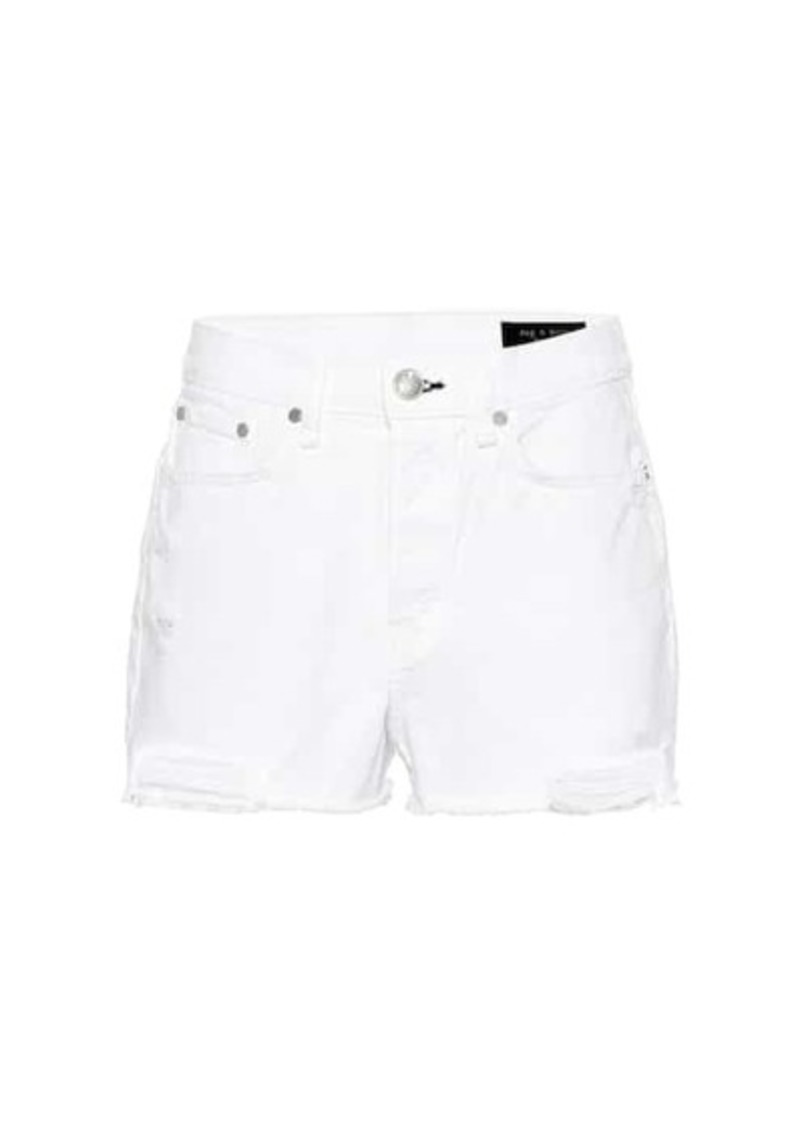 rag & bone Maya high-rise denim shorts
