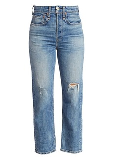 rag & bone Maya High-Rise Distress Ankle Jeans