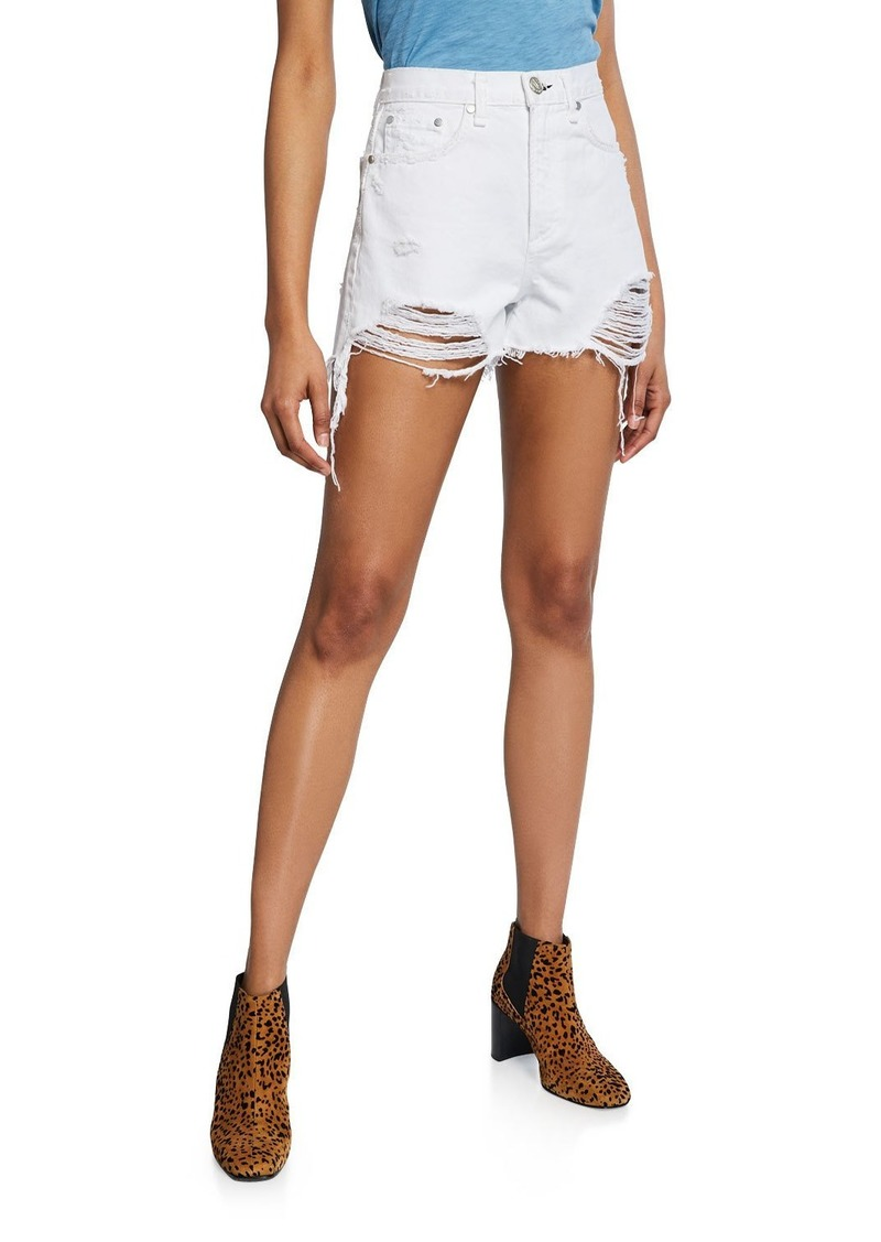 rag & bone Maya High-Rise Distressed Shorts