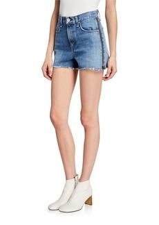 rag & bone Maya High-Rise Shorts with Zippers