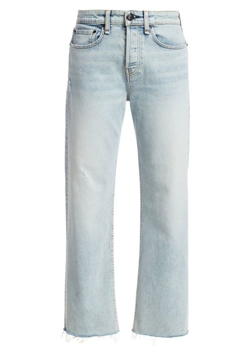 rag & bone Maya High-Rise Straight-Leg Ankle Jeans