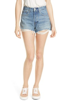 rag & bone Maya High Waist Cutoff Denim Shorts (Urth)