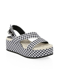 Rag & Bone Megan Plaid Wedge Sandals