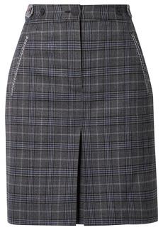 Rag & Bone Meki Checked Wool-blend Mini Skirt