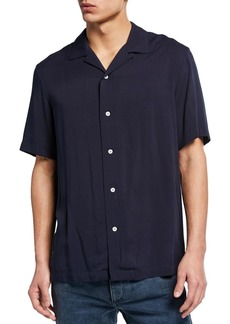 rag & bone Men's Avery Short-Sleeve Sport Shirt