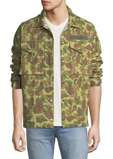 rag & bone Men's Camouflage-Print Flight Shirt Jacket