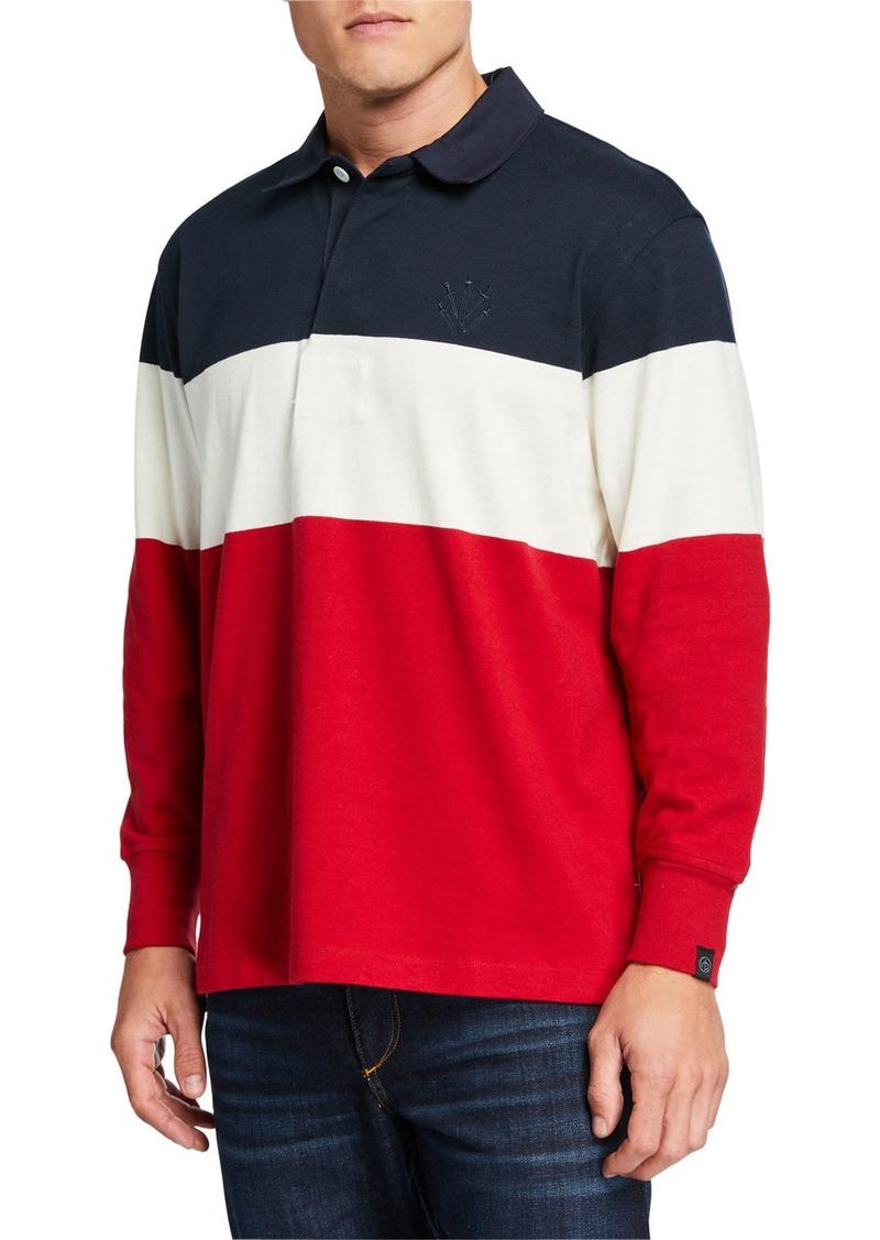rag & bone Men's Colorblock Rugby Polo Shirt