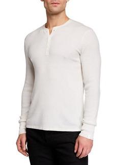rag & bone Men's Davis Wool/Linen Henley Shirt