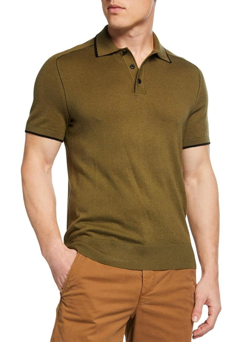 rag & bone Men's Evens Silk-Blend Polo Shirt