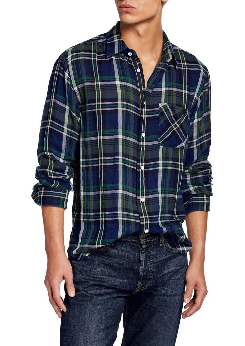 rag & bone Men's Fit 3 Plaid Beach Shirt w/ Pocket