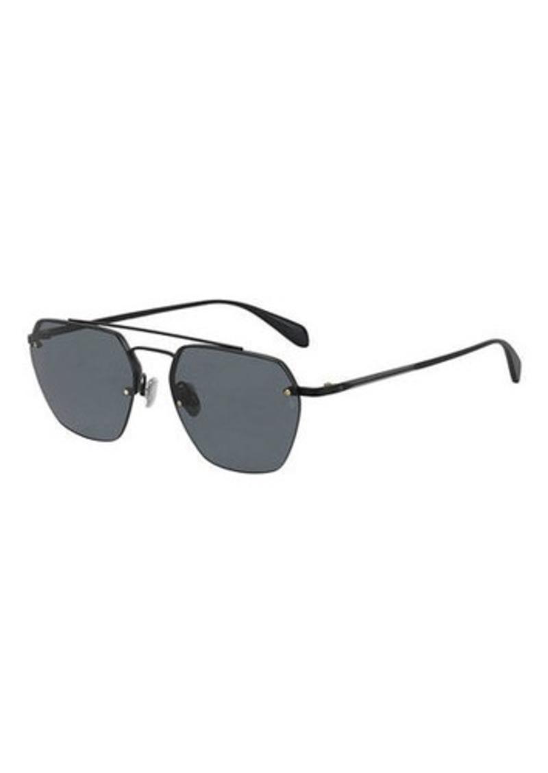 16acc834a83e Rag & Bone Men's Half-Rim Navigator Sunglasses | Sunglasses