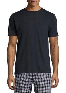 Rag & Bone Men's Owen Heather Linen Pocket T-Shirt