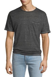 Rag & Bone Men's Owen Over-Dyed Linen Pocket T-Shirt