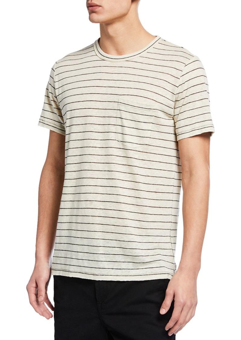 rag & bone Men's Owen Striped Pocket T-Shirt