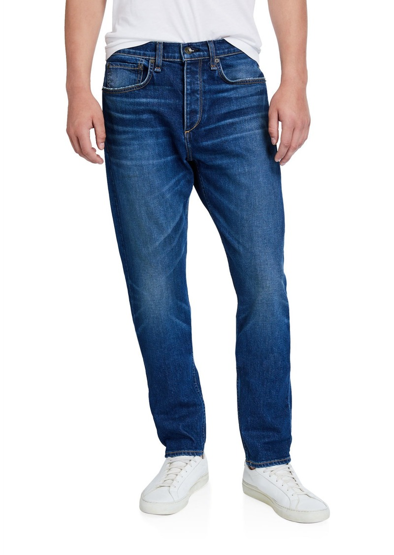 rag & bone Men's Standard Issue Fit 2 Mid-Rise Relaxed Slim-Fit Whiskered Jeans