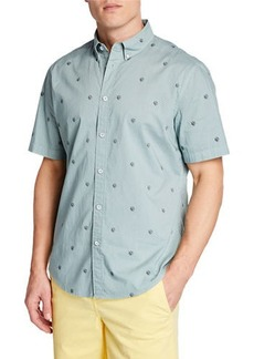 rag & bone Men's Tomlin Fit 2 Slim Short-Sleeve Sport Shirt