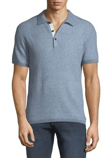 Rag & Bone Men's Tripp Heathered Cotton/Wool Polo Shirt