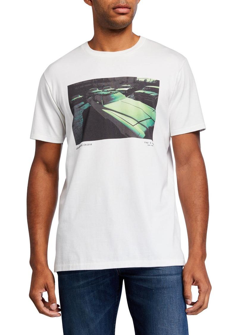 rag & bone Men's Vintage Car Graphic T-Shirt
