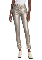 rag & bone Metallic High Rise Skinny Jeans