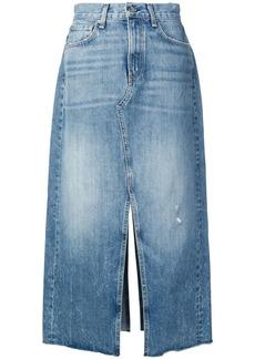 Rag & Bone mid-length denim skirt