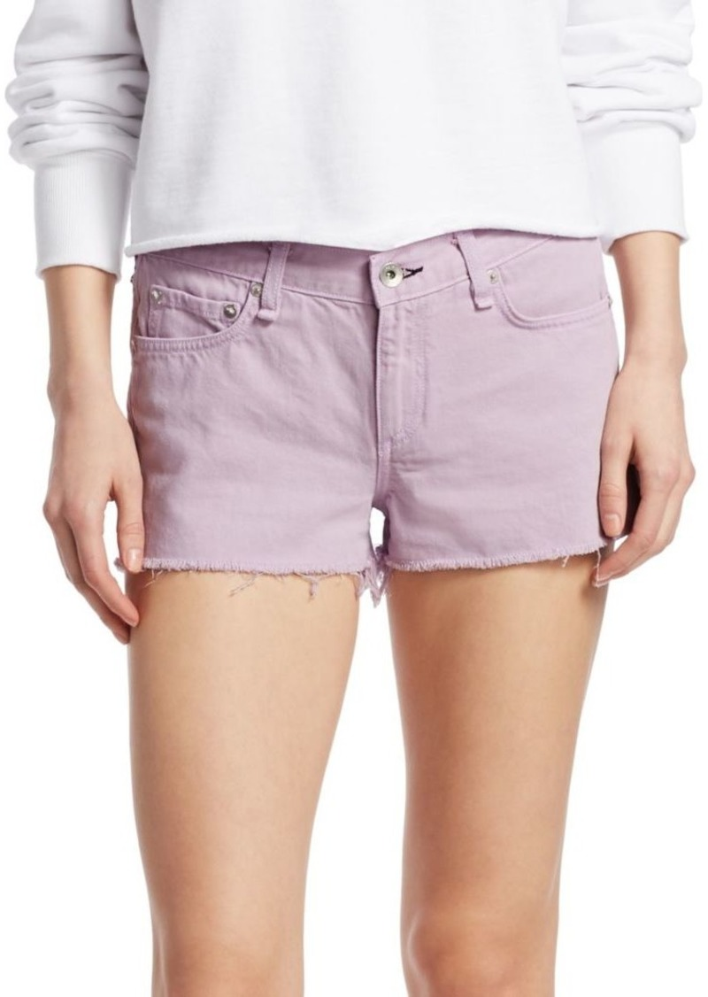 rag & bone Mid-Rise Denim Cut-Off Shorts