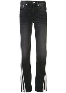 rag & bone mid-rise split-hem jeans