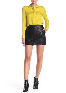 rag & bone Mila Lambskin Leather Mini Skirt