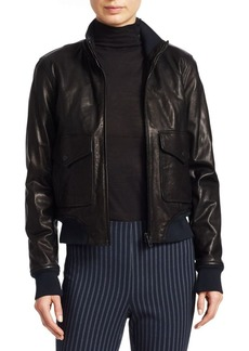 Rag & Bone Mila Leather Bomber Jacket