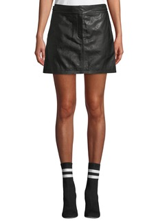 Rag & Bone Mila Leather Mini Skirt