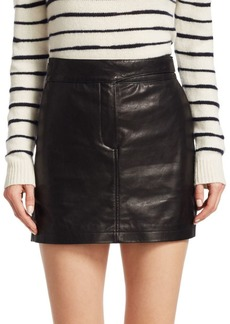 rag & bone Mila Leather Mini Skirt