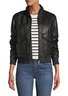 Rag & Bone Mila Zip-Front Leather Jacket