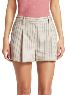 rag & bone Millie Pinstripe Cotton Shorts