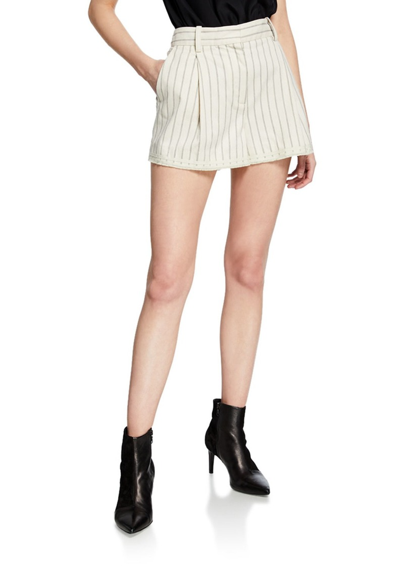 rag & bone Millie Striped Cotton Shorts