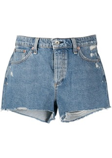 rag & bone Misha distressed denim shorts