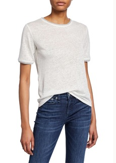 rag & bone Molly Short-Sleeve Linen Tee