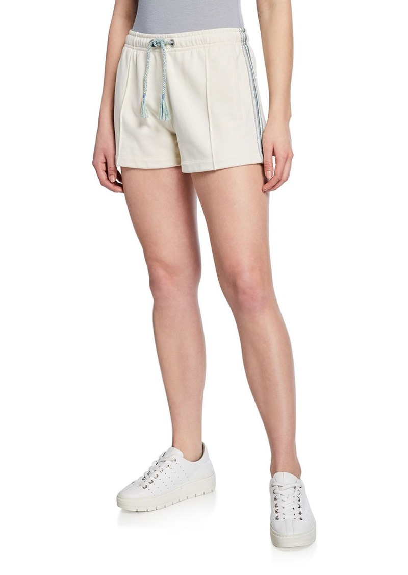 rag & bone Molly Striped-Trim Drawstring Shorts