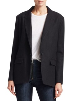 rag & bone Monty Oversized Single-Button Blazer