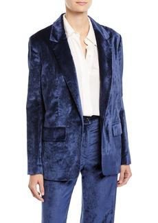 rag & bone Monty Oversized Velvet Blazer