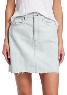 Rag & Bone Moss Denim Mini Skirt