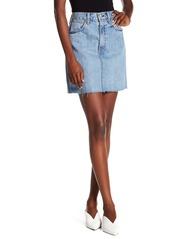 rag & bone Moss High Waist Denim Mini Skirt
