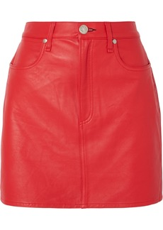 Rag & Bone Moss Leather Mini Skirt