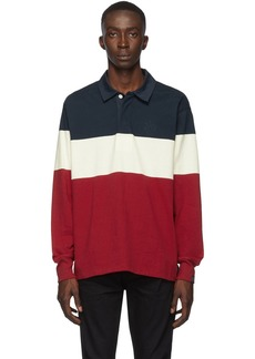 rag & bone Navy & Red Colorblock Rugby Polo