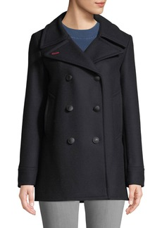 Rag & Bone Nella Double-Breasted Wool Pea Coat