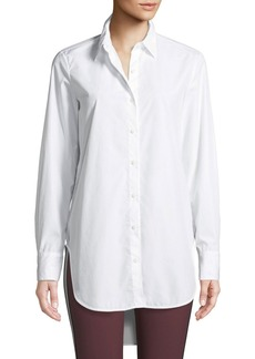 Rag & Bone Nightingale High-Low Button-Front Shirt