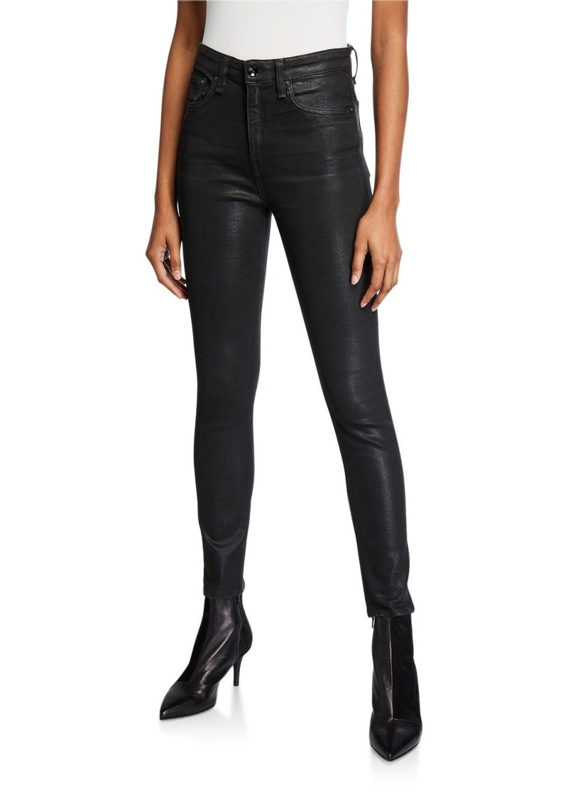 rag & bone Nina Coated High-Rise Skinny Ankle Jeans
