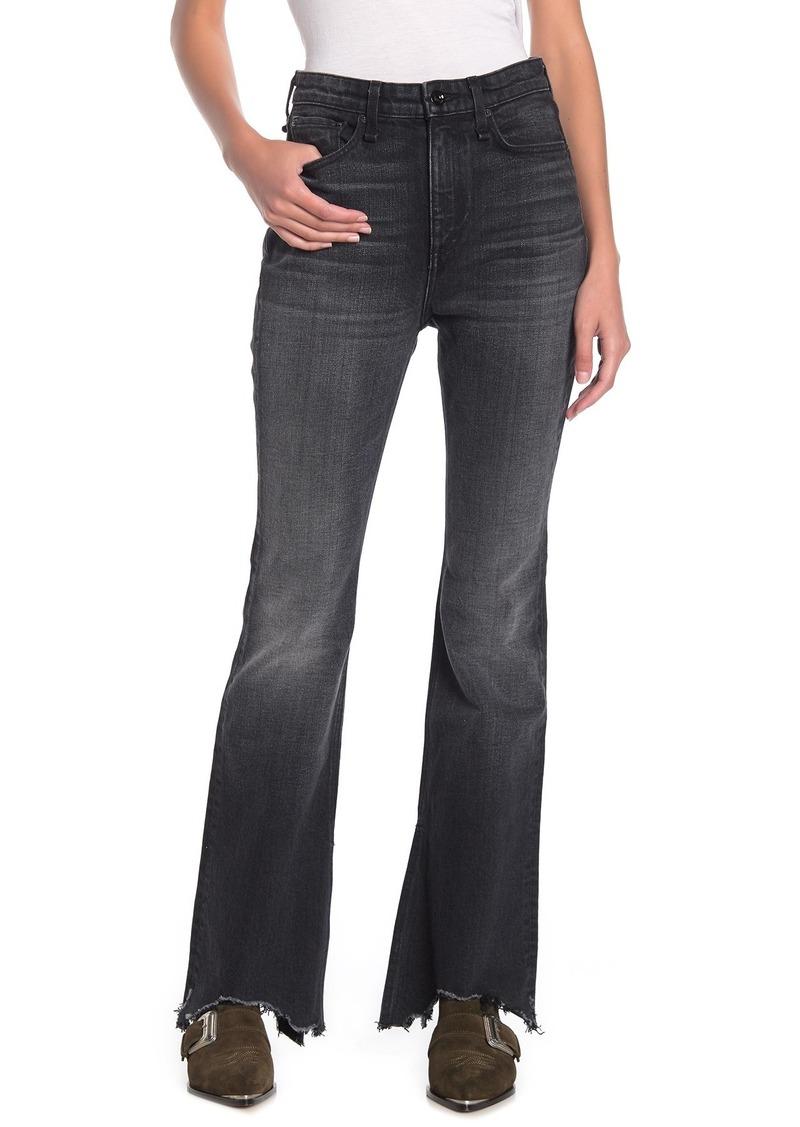 rag & bone Nina Distressed Flare Leg Jeans