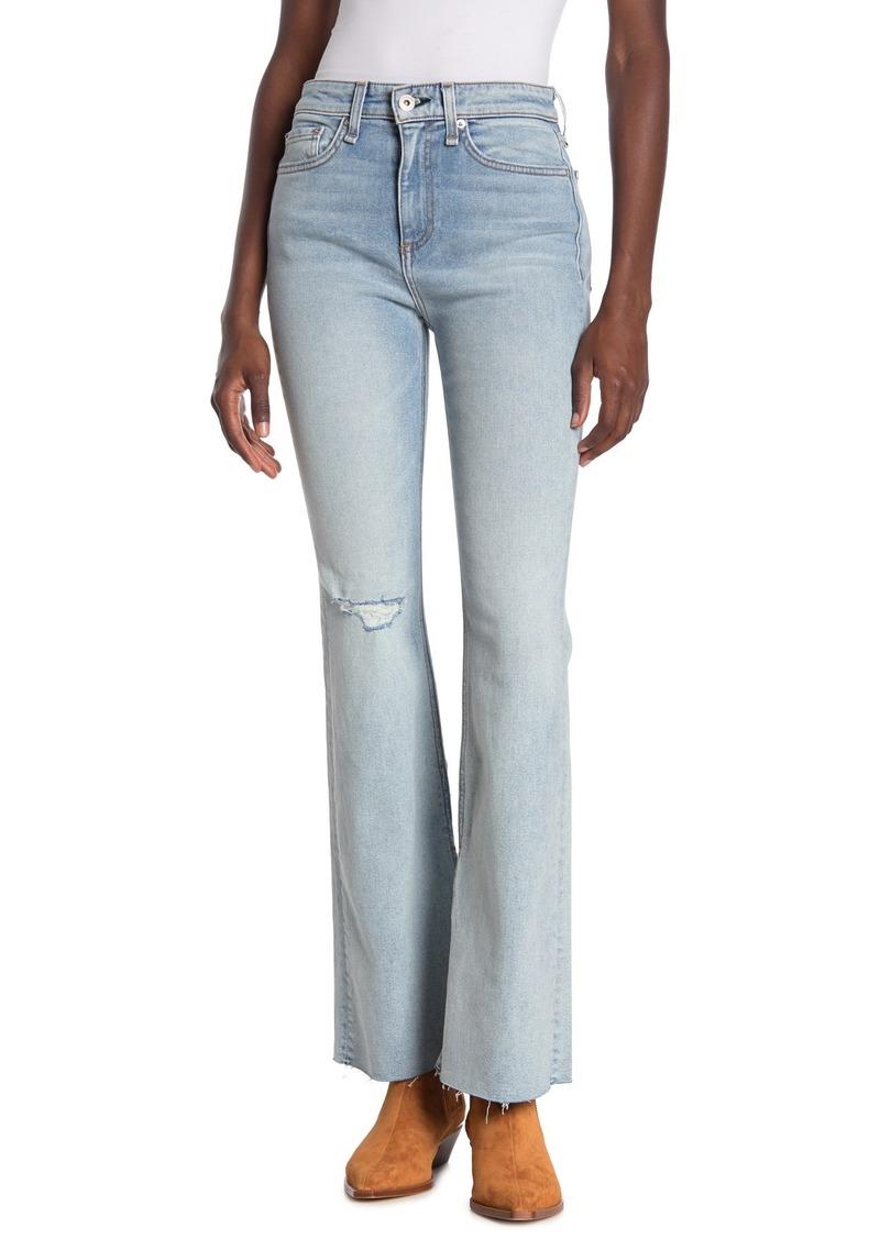 rag & bone Nina Distressed High Rise Flared Jeans