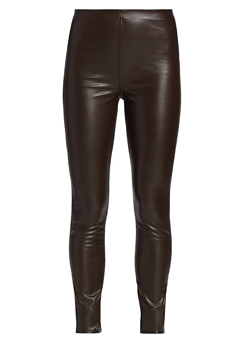 Nina Faux Leather Pull-On Skinny Pants