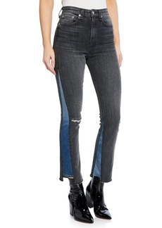 rag & bone Nina High-Rise Ankle Cigarette Repair Jeans