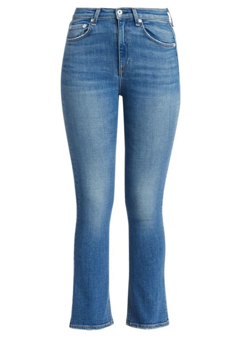 rag & bone Nina High-Rise Ankle Crop Flare Jeans